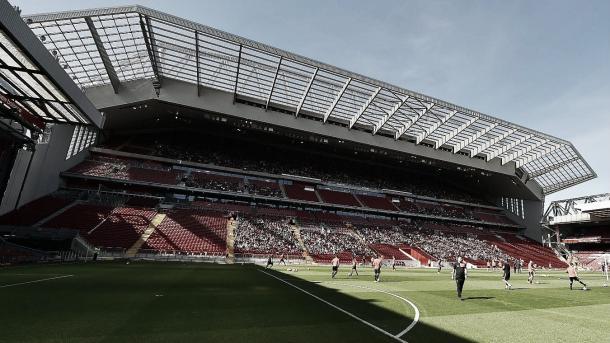 Grada de Anfield. Foto: Premier League.