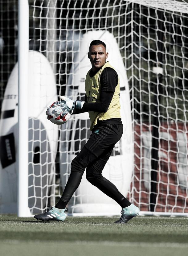 El portero de Costa Rica, con el objetivo puesto en la Supercopa | Foto: Ángel Martínez (Real Madrid C.F.)