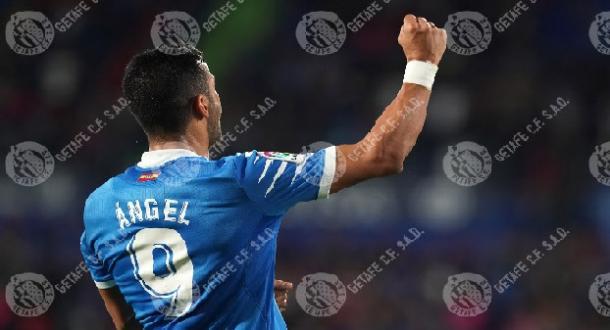 Ángel Rodríguez en un partido con el Getafe. Fuente: Getafe C.F.