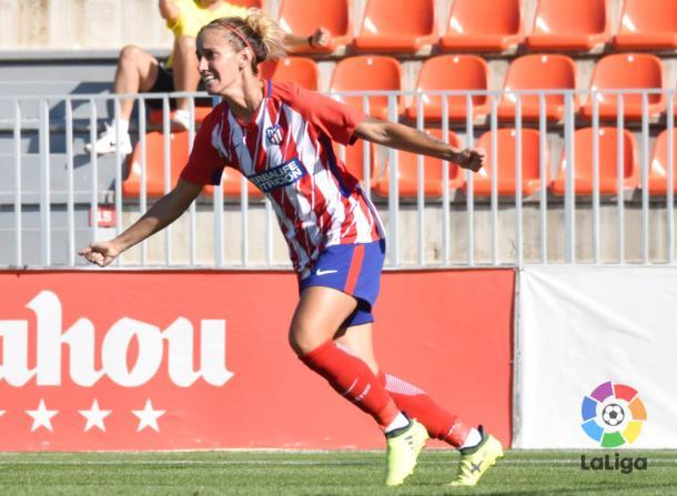 Ángela Sosa en un partido con el Atlético / Foto: LaLiga
