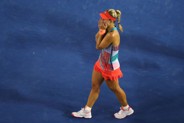 Angelique Kerber in a state of utter disbelief after defeating Serena Williams to win her maiden Grand Slam singles title. | Photo: Cameron Spencer/Getty Images AsiaPac