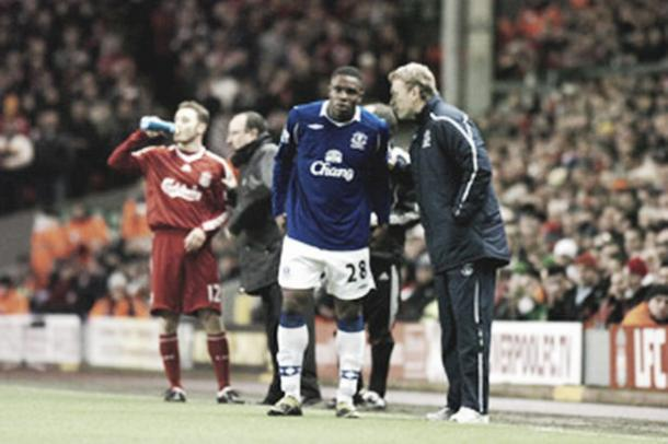 Anichebe admitted that the appeal of playing under Moyes drew him to Sunderland. (Photo: Liverpool Echo)