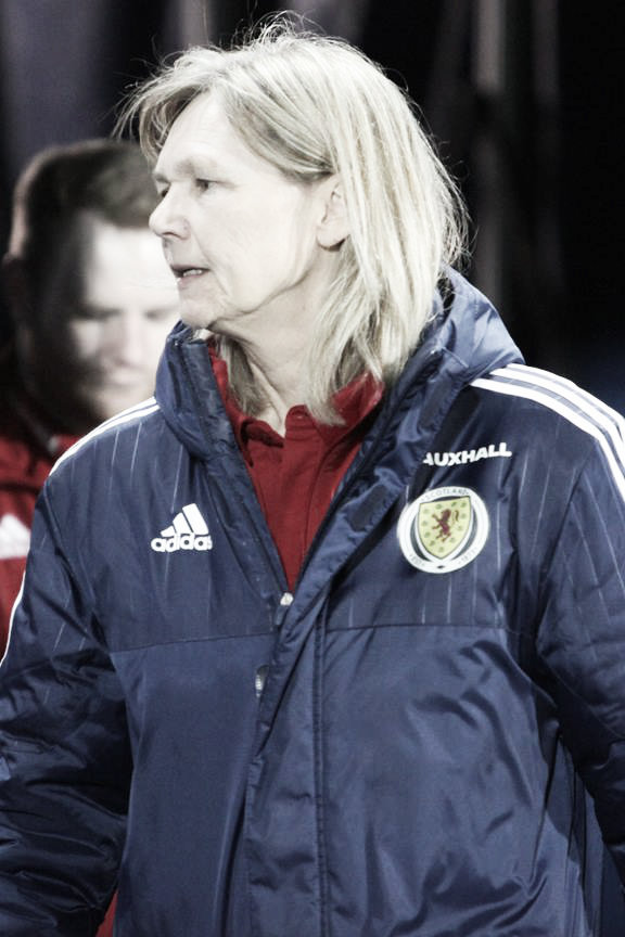 Scotland's Head Coach Anna Signeul. Photo: Andy Buist