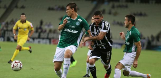 Bugre chegou a liderar, mas se salvou por pouco do rebaixamento à Série C em 2017 (Foto: Divulgação/Ceará SC)