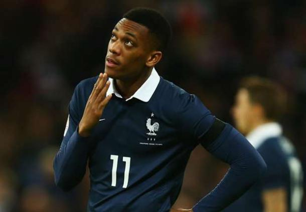 Martial played versus England for France back in November | Photo: Getty