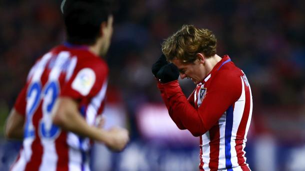 La disperazione di Griezmann dopo la sconfitta con il Barça. Fonte foto: Goal.com