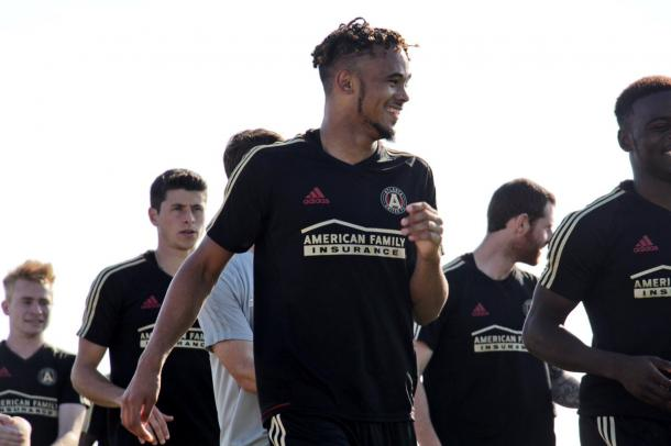 Anton Walkes already in action during preseason training | Source: @ATLUTD