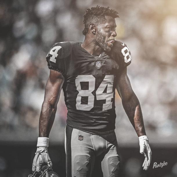 Antonio Brown fue intercambiado a los Oakland Raiders (foto Raiders.com)