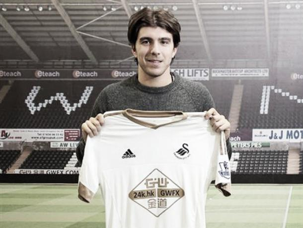 Paloschi joined Swansea last month from Chievo.   Photo: Swansea City AFC