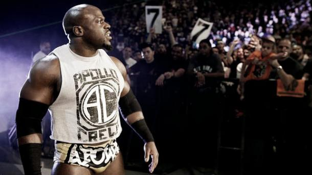 Apollo Crews during one of WWE's events (image: dailyddt.com)