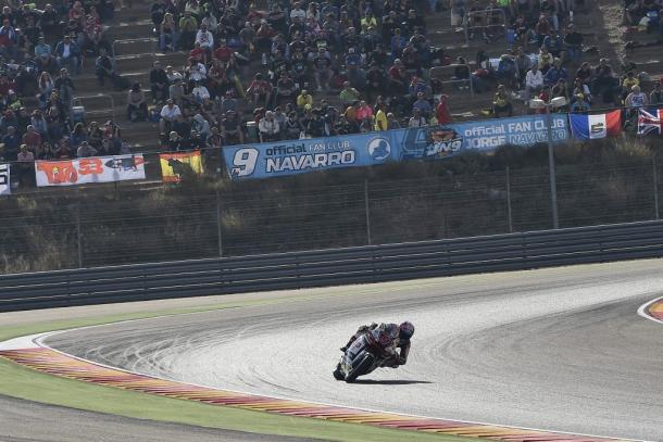 El club de fans de Jorge lo apoyó en Aragón. Foto: Federal Oil Gresini.