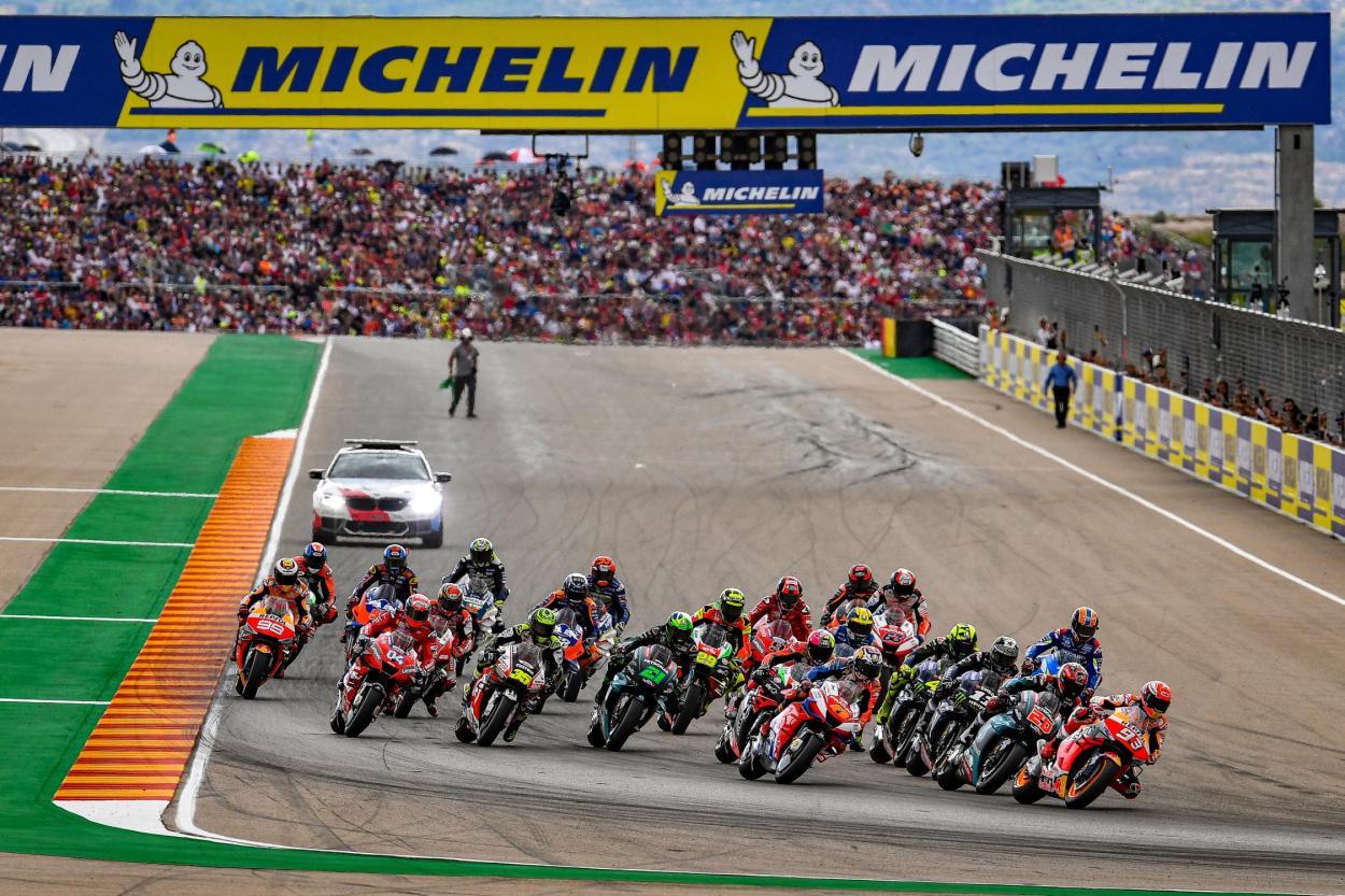 Aragón 2019, patrocinado por Michelin. Foto: motogp.com