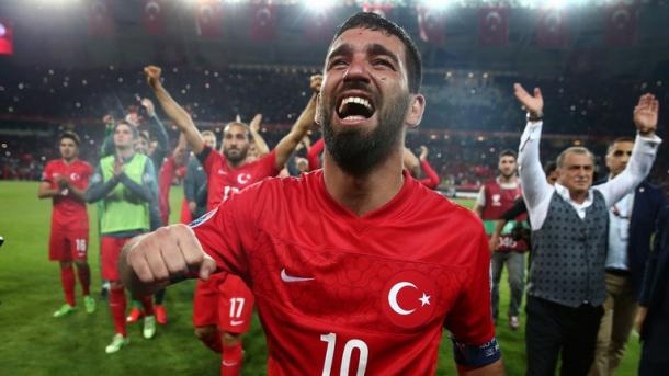 Arda Turan will lead the Turkey side going into the game with Croatia (Photo: Getty Images)