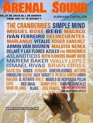 Primer cartel del festival Arenal Sound/Fuente: Arenal Sound