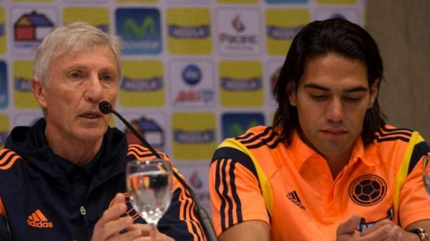 Colombia's manager José  Pékerman (Left) will be hoping that his former start  forward Radamel Falcao (Right) returns to his form before his injury that kept him from the 2014 World Cup. Photo provided by Associated Press.