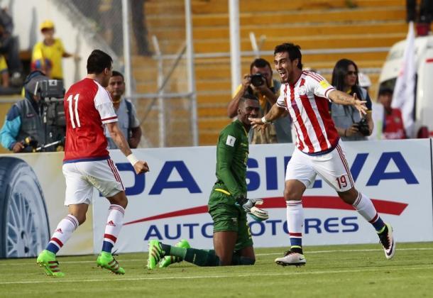 Dario Lezcano celebrating his goal. Photo: ABC Color