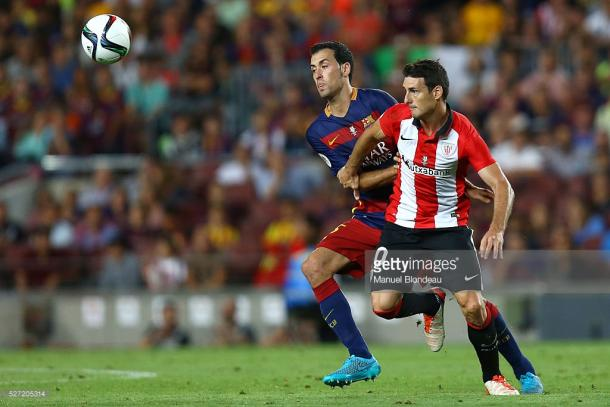 Aritz Aduriz (R) is one of a long line of Basque heroes at Athletic | Photo: Manuel Blondeau/Getty Images
