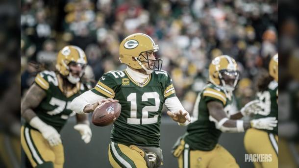Los fanáticos de los Packers confían en el talento del gran Aáron Rodgers (foto Packers.com)