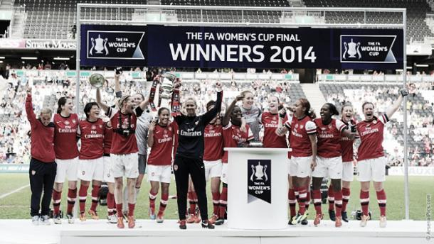 Will Arsenal be lifting the trophy once again this year? Image credit: Arsenal.com