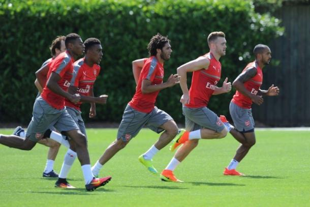 The Arsenal players have been putting in the yards in pre-season | Photo: Arsenal.