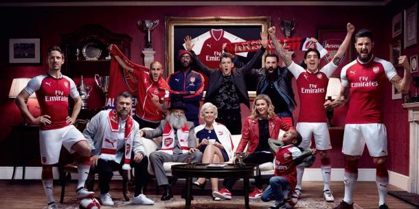 Presentación oficial de la camiseta del Arsenal | Foto: Arsenal FC