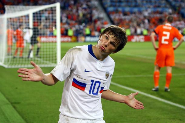 Arshavin con Rusia. Fuente: Gettyimages