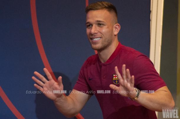 El jugador entrando en el Auditori / Foto: Eduardo Ariño (VAVEL.com)
