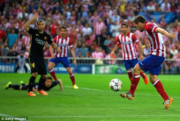 A última vitória do Atlético sobre o Barça remota a 2014 (Foto: DailyMail)