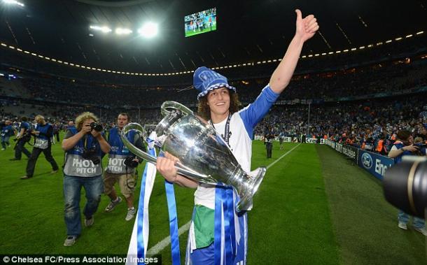 David Luiz celebrating Chelsea's 2012 Champions League victory | Photo: Chelsea FC/Press Association Images