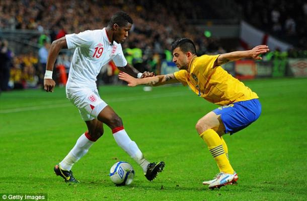 Zaha en su debut como internacional ante Suecia. Foto: Getty Images