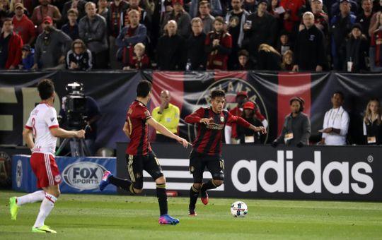 Yasmil Asad scores Atlanta's first ever goal. | Photo: Jason Getz/USA TODAY Sports