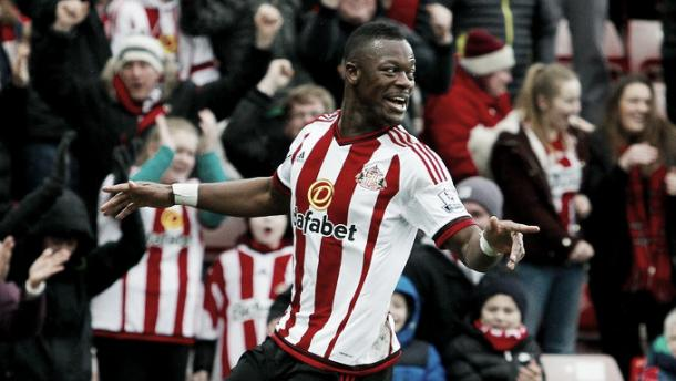 Lamine Kone celebrating his winning goal against Manchester United | Photo: REUTERS