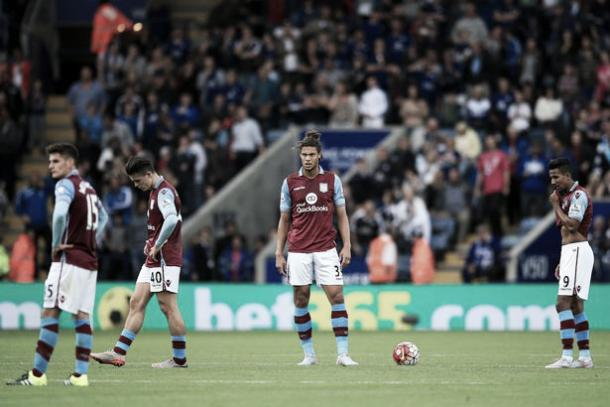 Aston Villa players look dejected after another defeat. | Image: Birmingham Mail