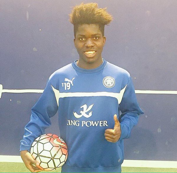 17-year-old winger Serge Atakayi pictured during his recent trial with Leicester City. | Photo: Serge Atakayi.
