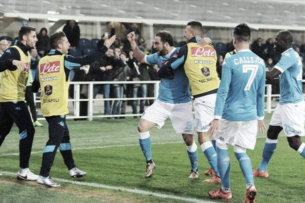 Gonzalo Higuain, decisivo con una doppietta a Bergamo all'andata - Getty Image