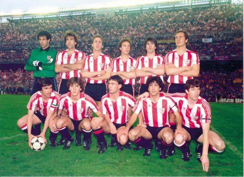 Once de la final de copa 1983-84    Foto: Web oficial del Athletic Club