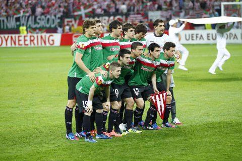Los jugadores del Athletic Club en la final de Bucarest |Foto: athletic-club.eus