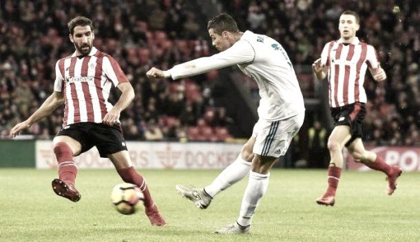 Cristiano Ronaldo chutando a portería   Foto: Real Madrid
