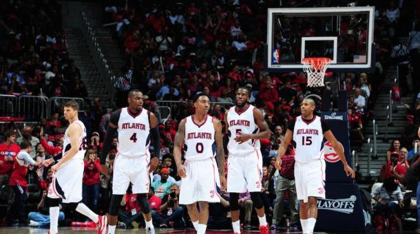 Il quintetto titolare degli Atlanta Hawks 2014-2015. Fonte: SportsIllustrated