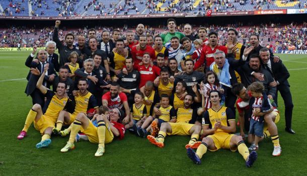 El Atleti inició como un tiro la última Liga que conquistó. Fuente: Atlético de M.
