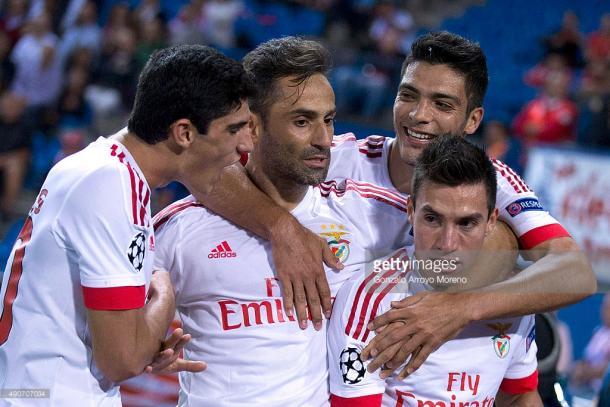 Gaitan e Gonçalo Guedes foram os autores dos golos em Madrid