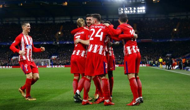 L'esultanza dopo il gol dei Colchoneros. | Fonte immagine: twitter @Atleti