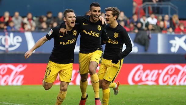 L'Atletico risorge a Pamplona: 0-3 targato Godin, Gameiro e Carrasco