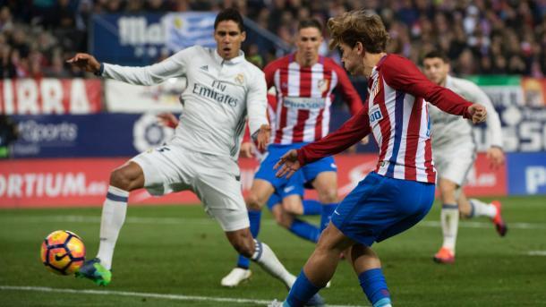 Griezmann in azione nel derby madrileno | Foto: goal.com