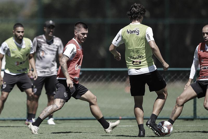 Grupo treina na Cidade do Galo (Foto: Pedro Souza/Atlético-MG)