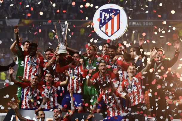 L'Atletico in trionfo | www.twitter.com (@EuropaLeague)