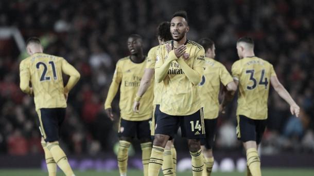 Aubameyang marca su séptimo gol en esta temporada./ Foto: Premier League