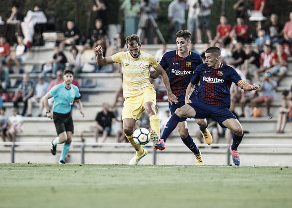 Amistoso de preparação na pré-temporada contra o Barcelona B | Foto: Pedro Salado/Getty Images