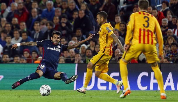 Fernández y un gran labor frente al Barca por cuartos. | Foto: Atlético Madrid