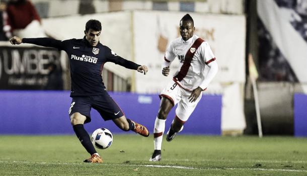 Augusto debutó como titular en Copa frente al Rayo Vallecano | Foto: Ángel Gutiérrez - Club Atlético de Madrid